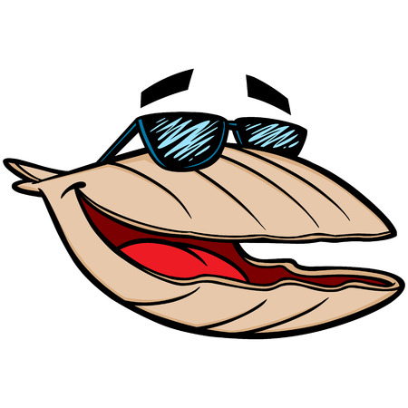 Clam with Sunglasses