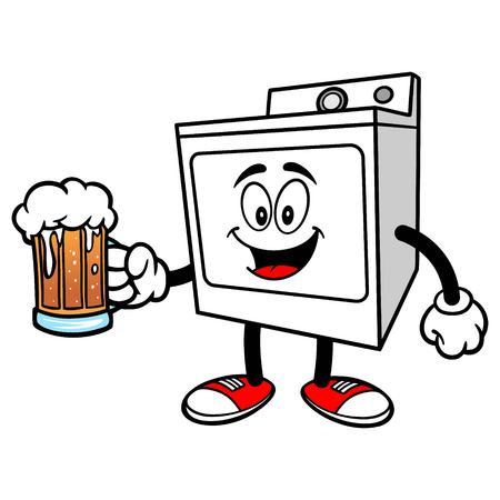 dryer: Clothes Dryer with a Beer