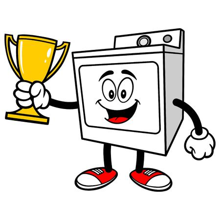 dryer: Clothes Dryer with a Trophy