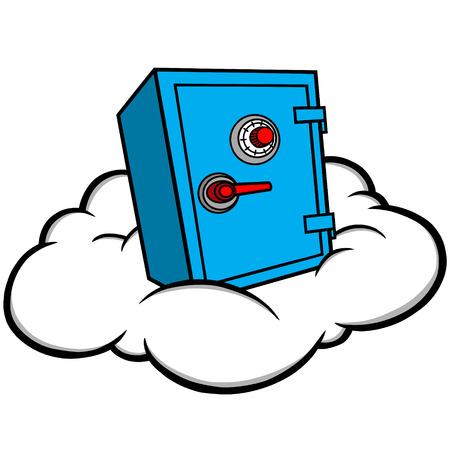 cloud: Cloud Security Illustration