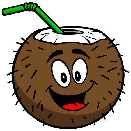 Coconut Drink Mascot Ilustração