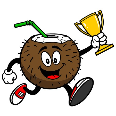 Coconut Drink Running with Trophy