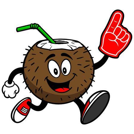 spectator: Coconut Drink Running with Foam Finger