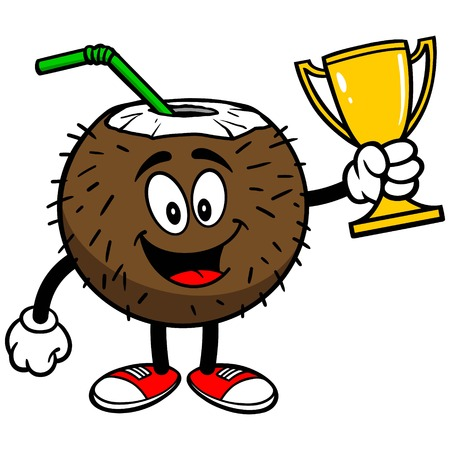 winning location: Coconut Drink with Trophy