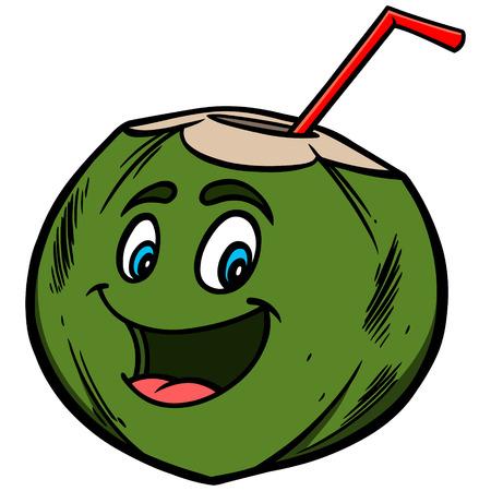 coconut water: Coconut Water Cartoon