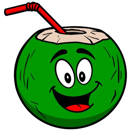 coconut water: Coconut Water Mascot
