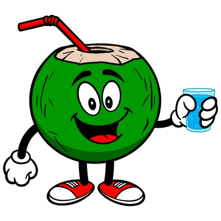 coconut water: Coconut Water with Cup of Water
