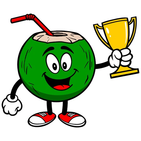 coconut water: Coconut Water with Trophy