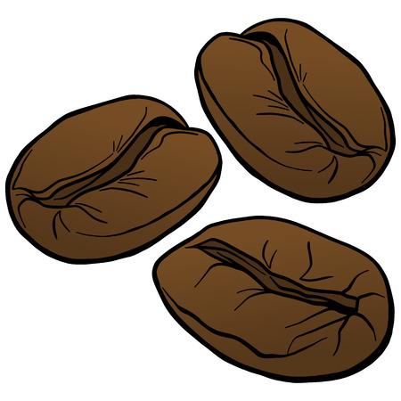 Koffiebonen Stock Illustratie