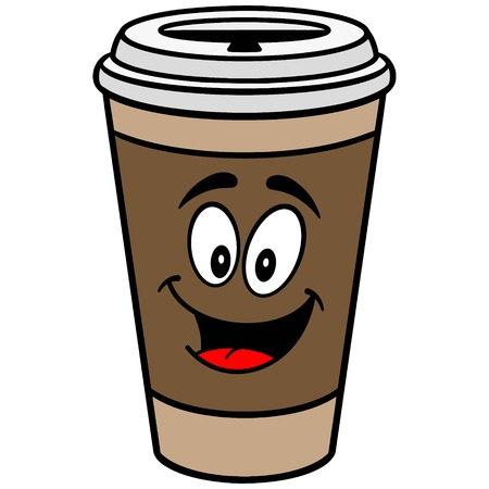 Coffee Mascot Stock Illustratie