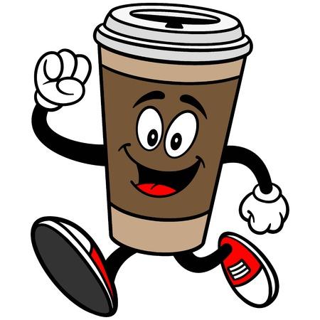 コーヒーの実行  イラスト・ベクター素材