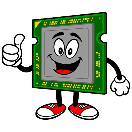 processor: Computer Processor with Thumbs Up
