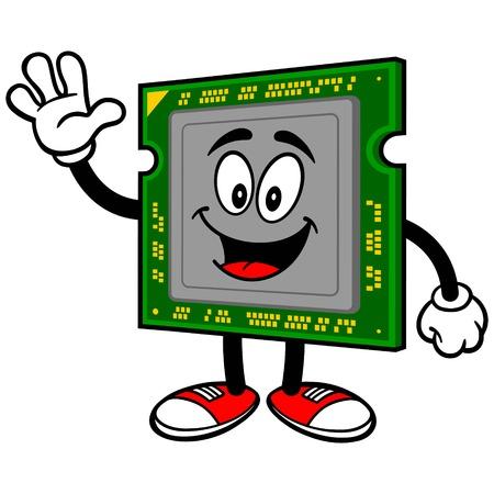 capacitor: Computer Processor Waving Illustration