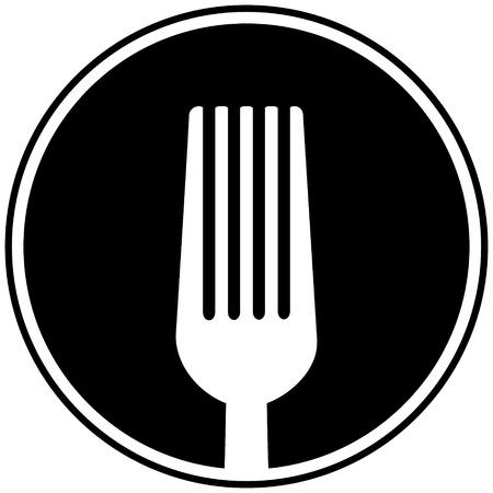 Cooking Fork Symbol