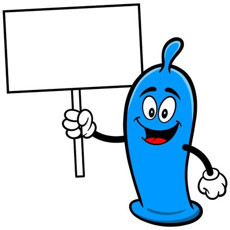 Condoom met teken Stockfoto - 57291827