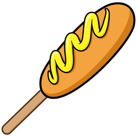 Corn Dog Illustration