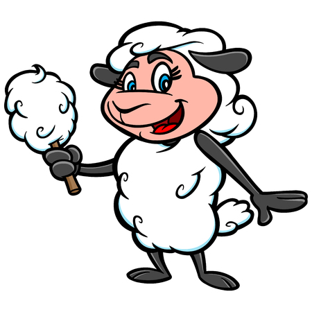 cotton candy: Cotton Candy Mascot