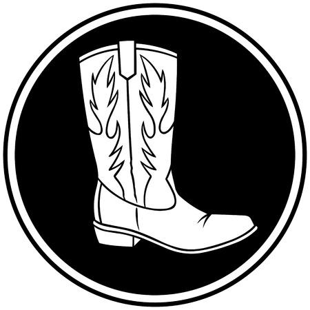 Cowboystiefel-Symbol