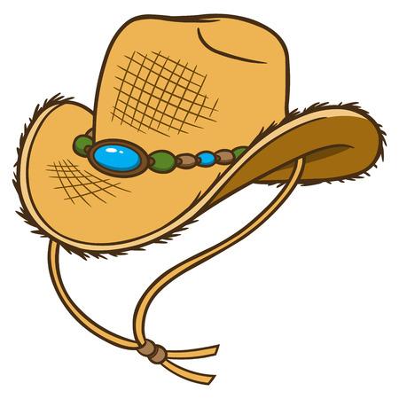 Sombrero de vaquero de la paja