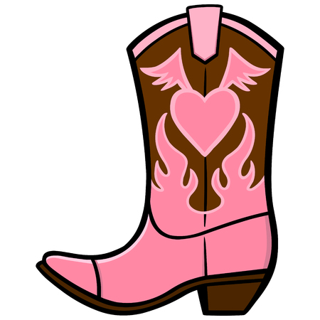 Cowgirl Boot Иллюстрация