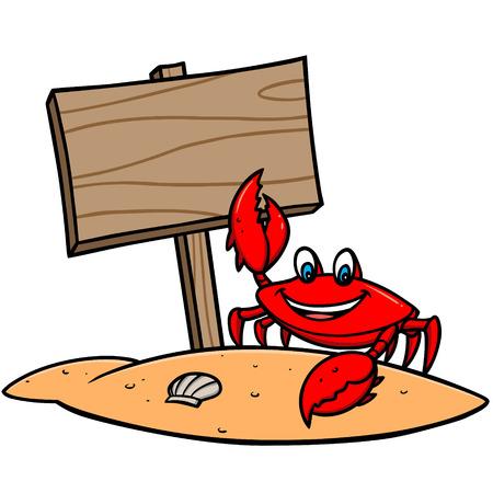 Crab Beach Sign