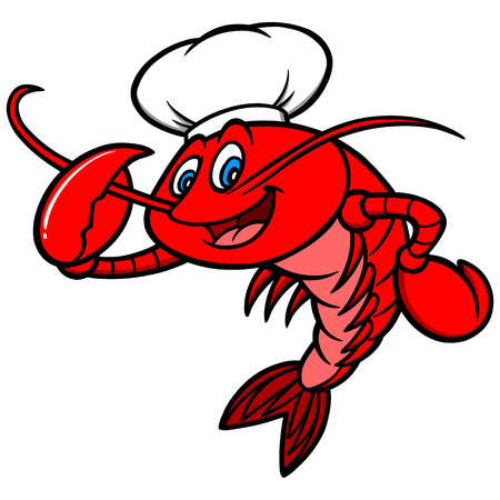 Crawfish Chef Mascot Illustration