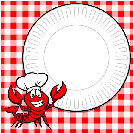 Crawfish Supper Invitation Ilustração