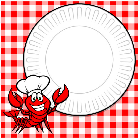 supper: Crawfish Supper Invitation Illustration