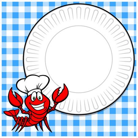 supper: Crawfish Supper Invite Illustration