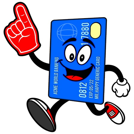 foam: Credit Card Running with Foam Finger