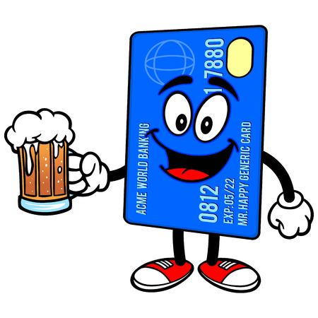 beer card: Credit Card with Beer