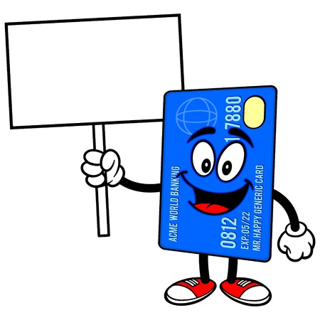 prepaid card: Credit Card with a Sign