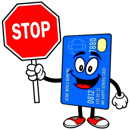 Credit Card with Stop Sign