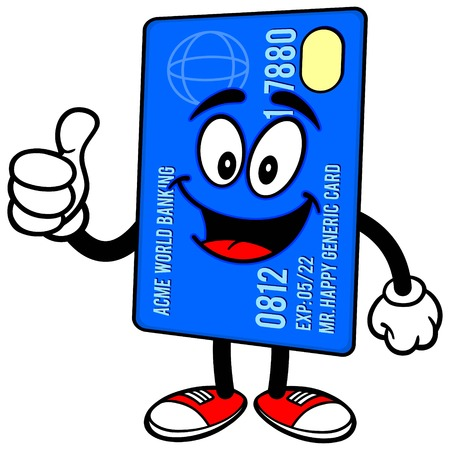 prepaid: Credit Card with Thumbs Up