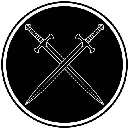 Crossed Swords Icon Stock fotó - 57317467