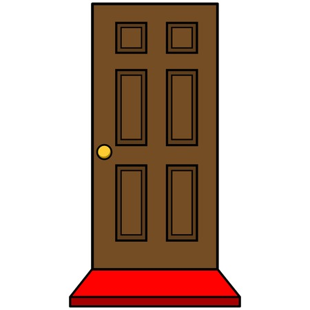 doormat: Door with Door Mat Illustration