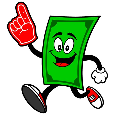 bringing home the bacon: Dollar Running with Foam Finger
