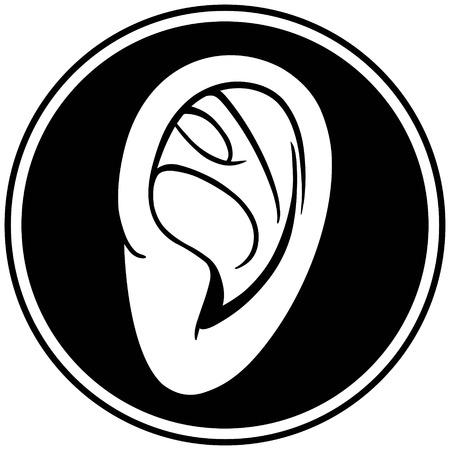 耳の記章  イラスト・ベクター素材