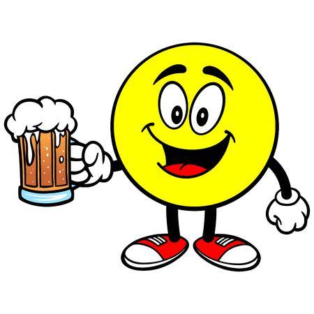 Emoticon with Beer