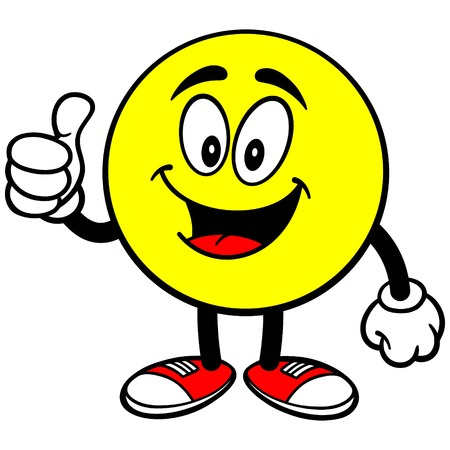 Emoticon with Thumbs Up