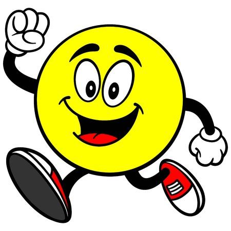 Correr emoticon Ilustración de vector
