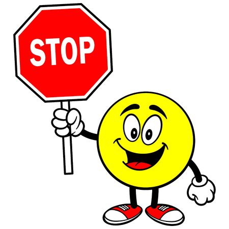 Emoticon with Stop Sign