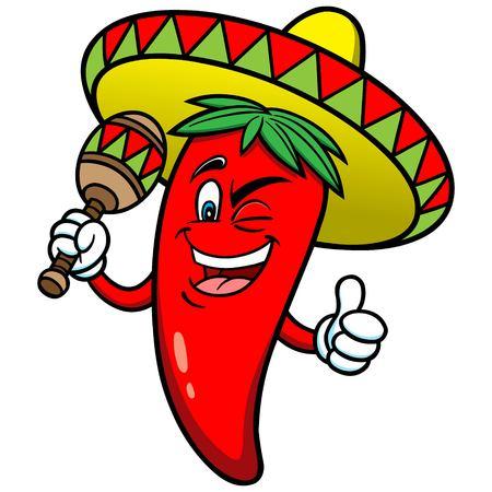 Festliche Chili Pepper Standard-Bild - 57449685