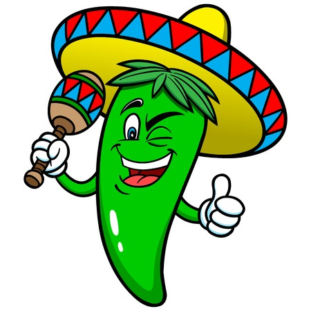 Festive Jalapeno Pepper Illustration