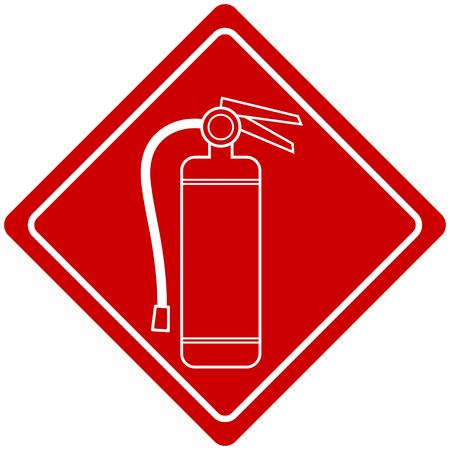 fire extinguisher sign: Fire Extinguisher Sign Illustration