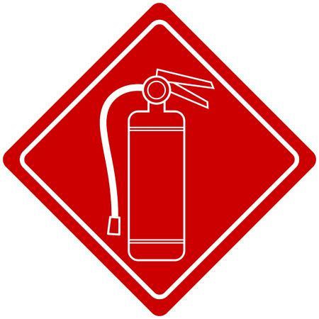 Fire Extinguisher Sign Иллюстрация