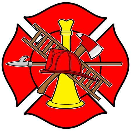 Insignia de Honor bombero Foto de archivo - 57449751