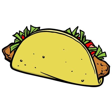 Fish Taco Ilustração