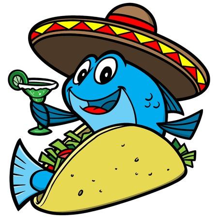 cartoon: Fish Taco Cartoon