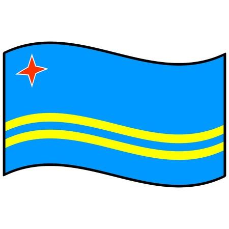 aruba flag: Flag of Aruba Illustration